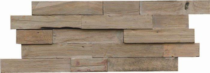 Wandgestaltung Holz Teak